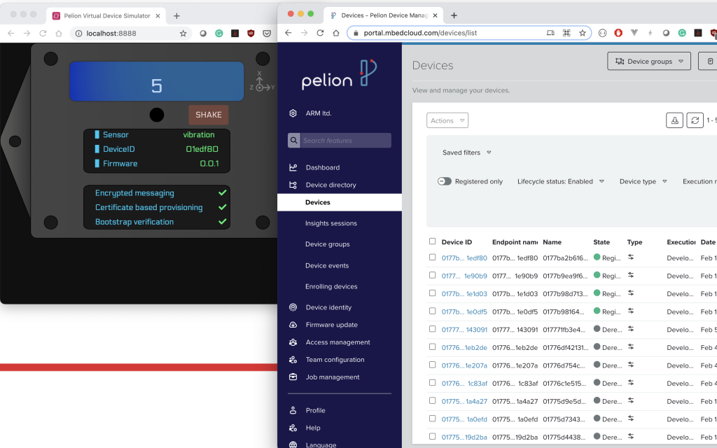 Try Pelion without any hardware – Virtual Demo